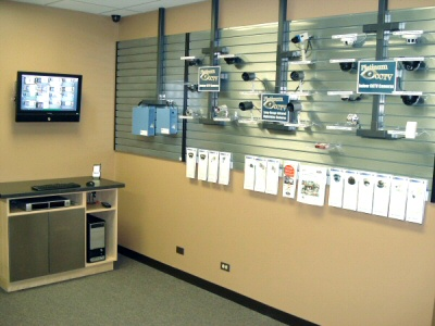 Our Naperville security camera showroom