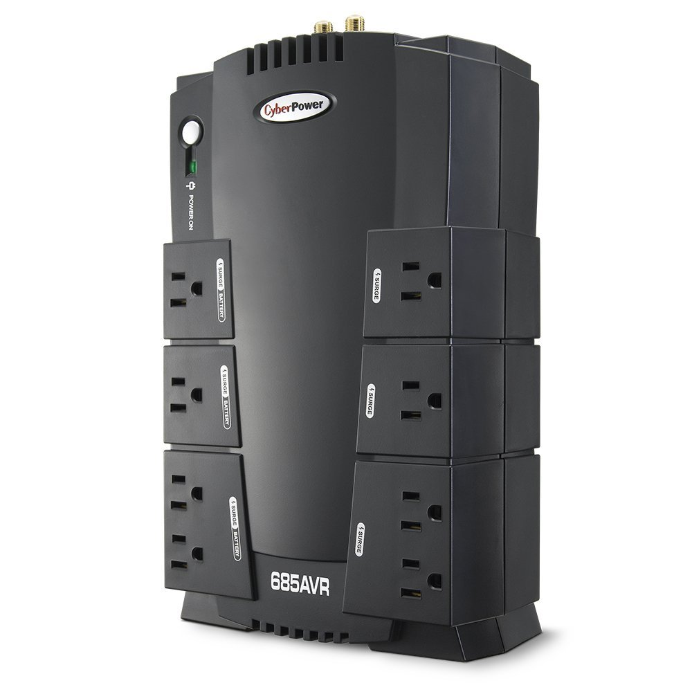 685va 390w Cyberpower Ups With Avr Battery Backup To