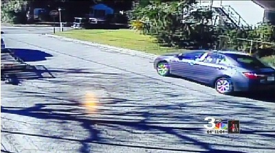 A homeowner in Savannah helped catch video of a vehicle involved in a drive-by shooting