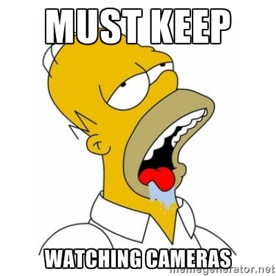 Homer Simpson demonstrates how to find video on most security camera systems