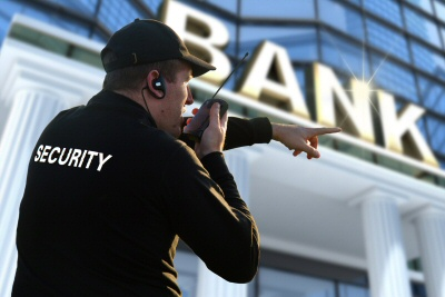 Proper security systems and camera systems for a bank would provide alerts so that personnel could respond immediately