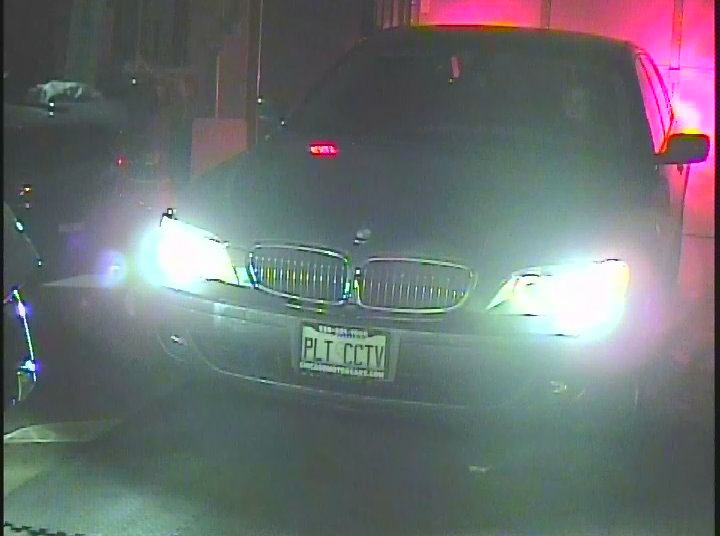 Front of a vehicle approaching the CD-9362 camera