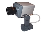 Realistic Moving Fake Security Camera w/Panning Movement Motion Activated w/blinking LED