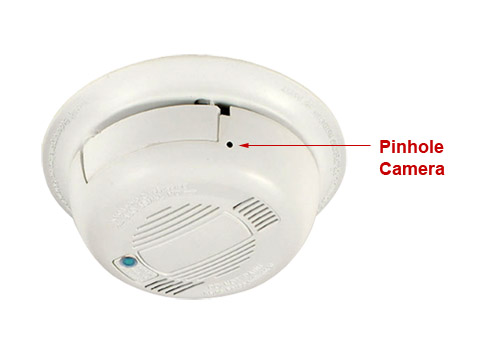 smoke detector hidden wifi nanny camera with internet access. Black Bedroom Furniture Sets. Home Design Ideas
