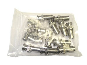 10-Pack BNC Weatherproof Compression Fittings for RG-59 Coaxial Cable