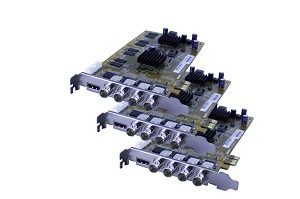 12-Channel HDVR Cards (HD-SDI) 360FPS 1080P Resolution PCIe Card with AVM Software