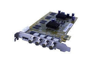 4-Channel HDVR Card (HD-SDI) 120FPS 1080P Resolution PCIe Card with AVM Software