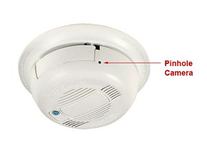 Smoke Detector Hidden WiFi Camera Ceiling Mounted