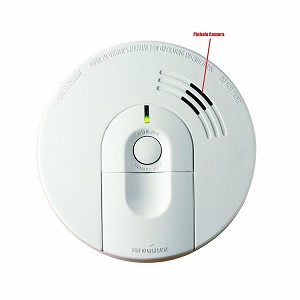Smoke Detector Hidden WiFi Camera Wall Mounted