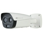 Thermal/Visible Hybrid IP Security Camera with Skin Temp Measurement for Rapid Pre-screening