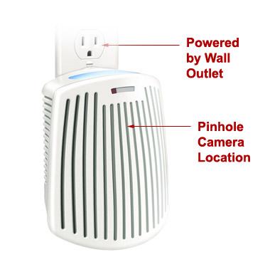 Air Freshener Hidden Nanny Spy Wifi Camera Watch From