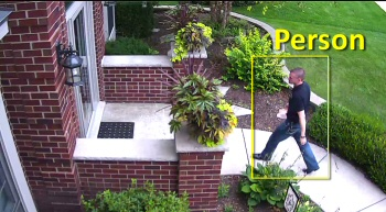 Person identified by a Smart home security camera