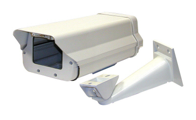 Heated Weatherproof Outdoor Camera Enclosure w/automatic 24 VAC Heater and Blower - With BRACKET!