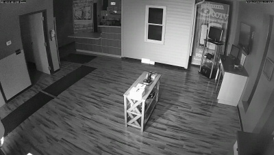 HD-4215 Camera view with WDR enabled and adjusted for better night vision