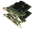 32-Channel 960 FPS H.264 PCIe DVR Cards with AVM Software (32-Video + 32-Audio Ports)