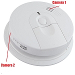 Smoke Detector Hidden WiFi Camera: Dual Cameras for multiple angles