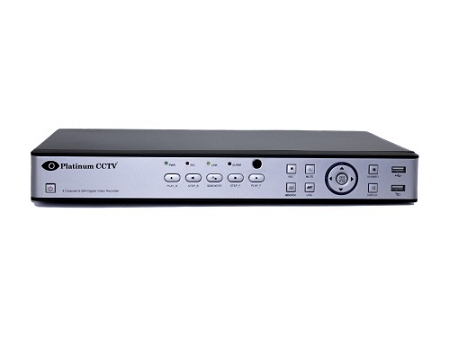 4-Channel HD-TVI and Analog Standalone DVR with Plug-N-Play Instant Remote Access