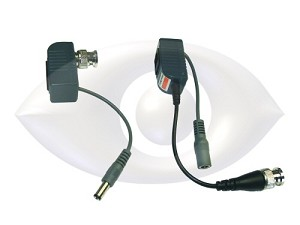 CCTV over UTP Power/Video CCTV Balun (1 pair) with RJ-45 Connector for CAT-5 Cable