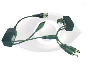 CCTV over UTP Power/Video/Audio CCTV Balun (1 pair) with RJ-45 Connector for CAT-5 Cable