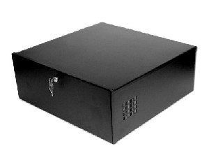 "Large DVR and PC-DVR Lockbox with Cooling Fan (21""x21""x8"")"
