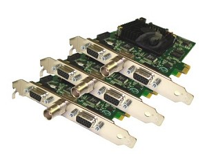 24-Channel 720 FPS H.264 PCIe DVR Cards with AVM Software (24-Video + 24-Audio Ports)