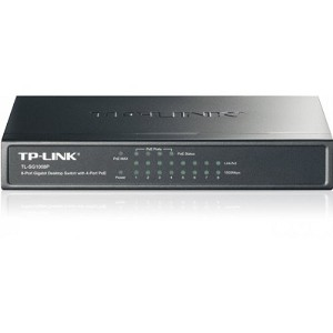 8 Port Gigabit Network Switch with 4 PoE ports for IP Cameras