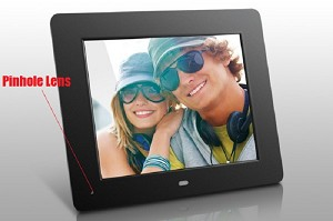Picture Frame Hidden Self-Contained SD Card Camera